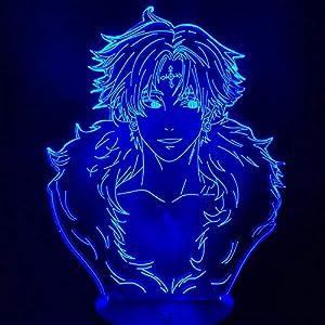 Hunter X Hunter CHROLLO LUCILFER 3D Led Illusion Night Lights Led Anime Table Lamp for Christmas Gift
