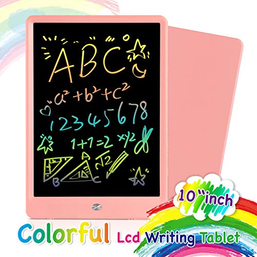 Orsen LCD Writing Tablet 10 Inch, Colorful Doodle Board Drawing Tablet, Erasable Reusable Writing Pad, Educational Boys Girls Toys Gifts for 2-6 Year Old Girls Boys(Pink)