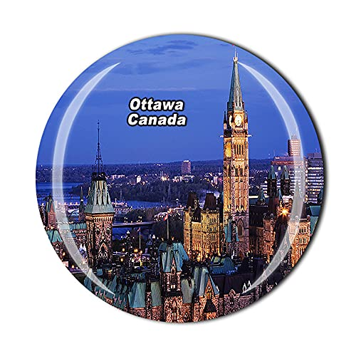 Canadá Ottawa - Imán para nevera, diseño de cristal, estilo de cristal,...