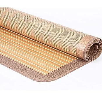WXH Matelas d'été de Couchage Mat Double Face Bambou rotin Matelas de Refroidissement Feuilles Respirantes Personnes Chambre dortoir, 3 Tailles, 2 Styles
