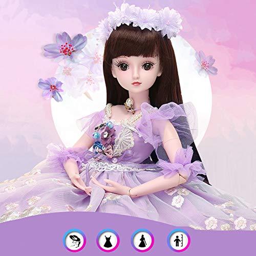 Lumycd Realistische Reborn BJD Puppen 23,6 Zoll Handgemachte Lebensechte Abnehmbare Haare Für Babys Spielzeug & Geschenk (19 Joint) WENNIU,C