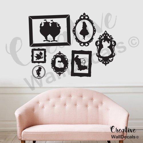 CreativeWallDecals Vinyl Wall Decal Sticker Alice in Wonderland Kids Frame Nursery Bedroom r1872
