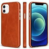 TOOVREN MagSafe 対応 iphone12pro ケース レザー iphone12 ケース 本革 アイフォン12 ケース 純正 薄型 iphone12proレザーケース スマホケース iphone12カバー 本皮 MIL規格 qi対応 6.1インチ 5G 2020 ブラウン