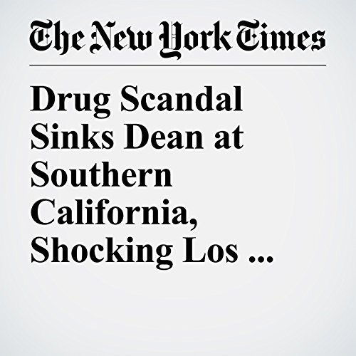 Drug Scandal Sinks Dean at Southern California, Shocking Los Angeles copertina