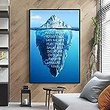 SZIYV Eisberg des Erfolgs Leinwand Poster Landschaft