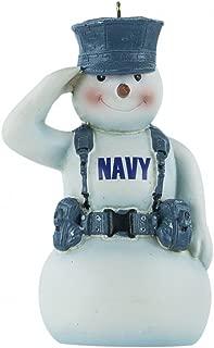 Kurt Adler U.S. Navy Snowman Saluting in Gear Christmas Ornament