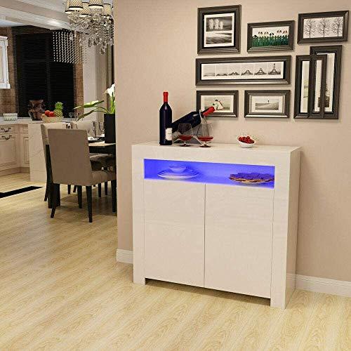 Restaurant Wohnzimmer Speiseseitenschrank Schließfächer Schrank Unterhochglanz matt,White