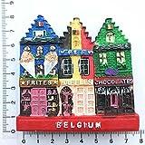 HUAYING Bélgica Gante Landmark edificio imanes de nevera turismo recuerdo pintado magnético nevera pegatinas colección decoración