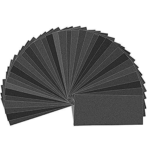 Schleifpapier, PEMOTech 54 Stück 9 x 3,6 Zoll 320 bis 3000 Korn Sandpapier Sortiment Trocken/Nass, trocken/nass, für Automobil-Schleifen, Holzmöbel Finishing, Holz Drehen Finishing