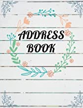 Address Book: Large Print - Plank Wooden and Watercolor Floral Cover - Email Address Book With Tabs - Birthday, Mobile Number: Address Book Large Print (Volume 4)