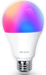 Smart LED Light bulb, 100 Watt Equivalent WiFi Multicolor Dimmable with Warm Glow App&Voice Controlled Compatible with Alexa/Google Home/IFTTT A21 E26/27 Medium Base No Hub Required,LED Color Changing