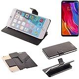 K-S-Trade® Handy Schutz Hülle Für Xiaomi Mi8 Youth Flip Cover Handy Wallet Case Slim Bookstyle Schwarz