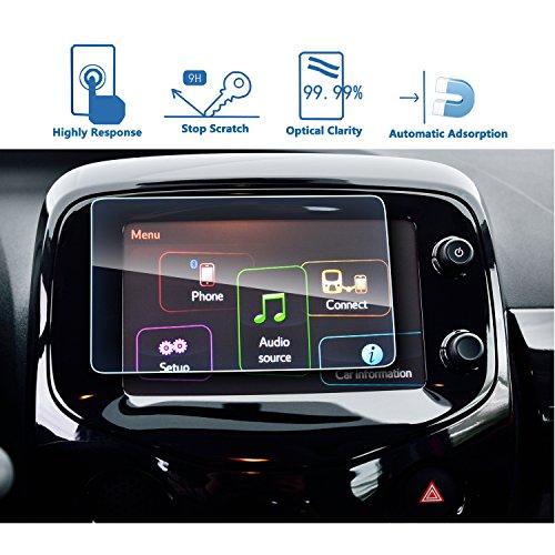 LFOTPP Peugeot 108 7 inch navigatie beschermfolie - 9H krasbestendig anti-vingerafdruk pantserglas displaybeschermfolie GPS Navi folie