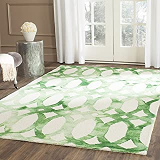 Safavieh Dip Dye Collection DDY675B Handmade Geometric Watercolor Ivory and Green Wool Area Rug (8' x 10') (B00UL7VKBK) | Amazon price tracker / tracking, Amazon price history charts, Amazon price watches, Amazon price drop alerts