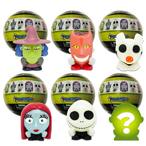 Nightmare Before Christmas Mash'Ems Mystery Pack Series 1 Set - 6 Pack Bundle Blind Box with Super Squishy Nightmare Before Christmas Figures (Super Squishy Party Favors)