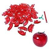 TOOGOO(R)) 3D Puzzle de Cristal - Rojo de Manzana