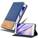 Cadorabo Funda Libro para Huawei P9 Lite en Azul MARRÓN - Cubierta Proteccíon con Cierre Magnético, Tarjetero y Función de Suporte - Etui Case Cover Carcasa