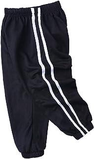 Moneycom, (9M-7Y - Pantalones largos casuales para bebé y niño con rayas sólidas, antimosquitos, mezcla de algodón, color amarillo, 9M-7Y
