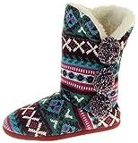 Dunlop Botas Altas de Mujer Verde Burdeos 38/39 EU