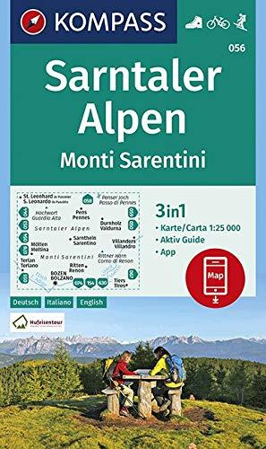 KOMPASS Wanderkarte Sarntaler Alpen, Monti Sarentini: 3in1 Wanderkarte 1:25000 mit Aktiv Guide inklusive Karte zur offline Verwendung in der ... Skitouren. (KOMPASS-Wanderkarten, Band 56)