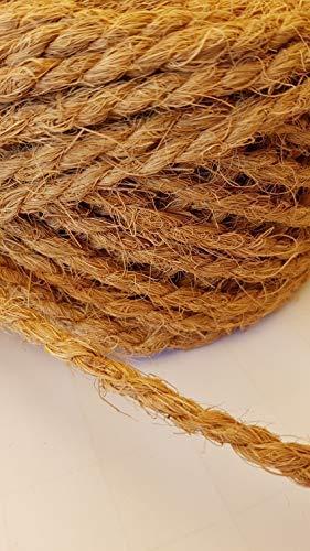 Kokosseil 7 mm – Baumanbinder aus Kokosfaser – ungefärbte Naturfaser – 50 m - 4