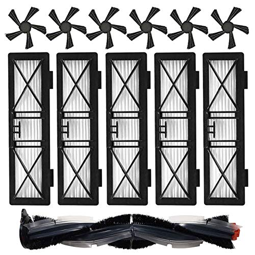 Accesorios para Neato Botvac D Series D3 D5 D7 D75 D80 D85 Repuestos para Robot Aspirador Filtro de Ultra Rendimiento Cepillo Principal