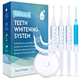 Premium Teeth Whitening System - LED Light, 35% Carbamide Peroxide, Reminerilization Gel - Beautiful White Smile