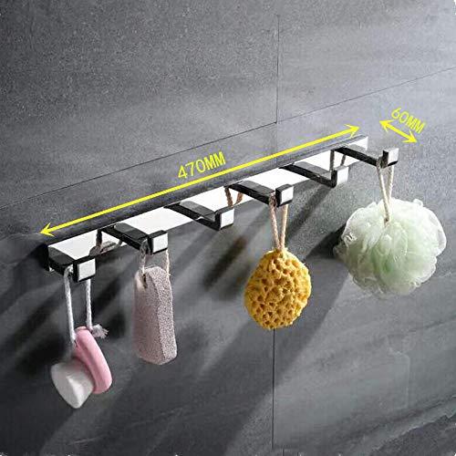 Haak voor het ophangen van 304 roestvrij staal met dubbele haak voor badjas C (Longueur 47cm)