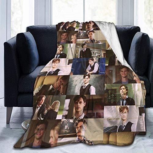 'N/A' WJOOM Criminal Minds - Matthew Gray Gubler Flannel Fleece Blanket Lightweight Super Soft Warm Cozy Luxury Throw Blanket Home Decor for Couch, Bed, Sofa, Travel(80X60 Inch)