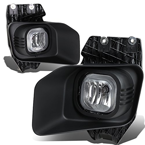 Replacement for 11-16 Ford Super Duty Bumper Driving Fog Lights+Wiring Kit+Bezel+Switch (Clear Lens)