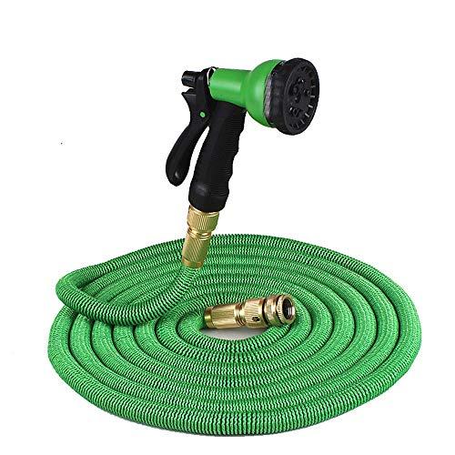 ERT Telescopic Car Wash Hose Seamless Webbing Watering Hose Garden Watering Watering High Pressure Car Wash (Color : Green)