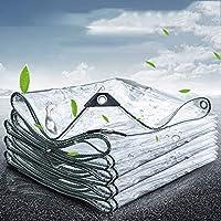 LBWARMBクリアシートシースルーシート 0.35 んん 厚い、 安定した、 フレキシブル、 ワイド にとって 屋内 そして アウトドア 使用する、 折りたたみ式 PVC 材料 キャノピー と アイレット、 バルコニー、 カーテン、 太陽 保護 (Color : Clear, Size : 2.4x3m/7.9x9.8ft)