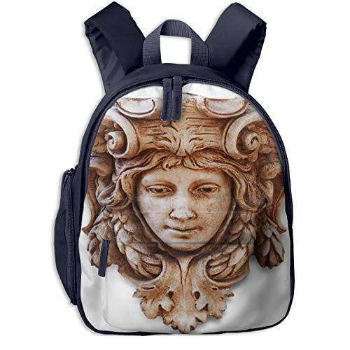 Kinderrucksack Kleinkind Jungen Mädchen Kindergartentasche Braune römische Kopfskulptur Renaissance Backpack Schultasche Rucksack
