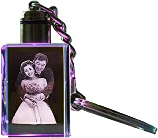 etched photo keychain