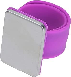 IPOTCH Impugnature per Righello in Gel di Silicone da 2 Fogli Anelli Adesivi Antiscivolo Cucitura Trasparente