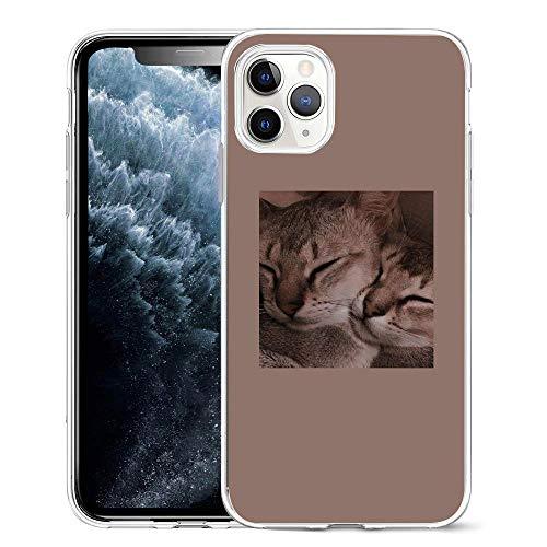 LIUYAWEI Carcasa de teléfono de Dibujos Animados Lindo Animal Gato para iPhone 5 5S 6 6S 7 8 Plus X XS MAX XR 11 Pro12 TPU Funda de teléfono, LYW 21-para iPhone7 / 8
