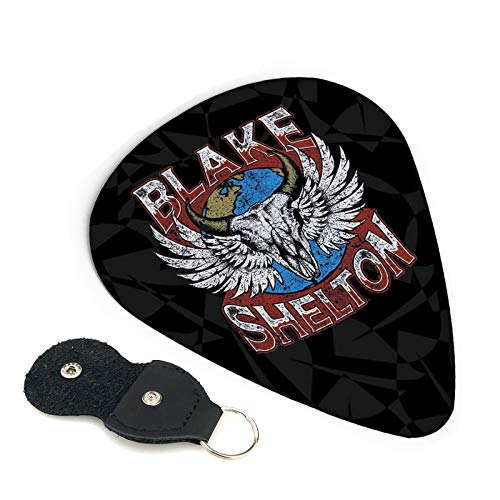 Blake Shelton Guitar Picks Classic Medium Picks Perfect Gift For (Abs 6 Pack,3 Specifications)
