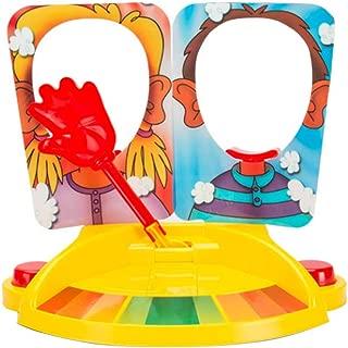 Pie Face Board Games Double Pie Face Showdown Board Games Tricky Toys Double Cream Face Mask Family Game for Children Families 1Set