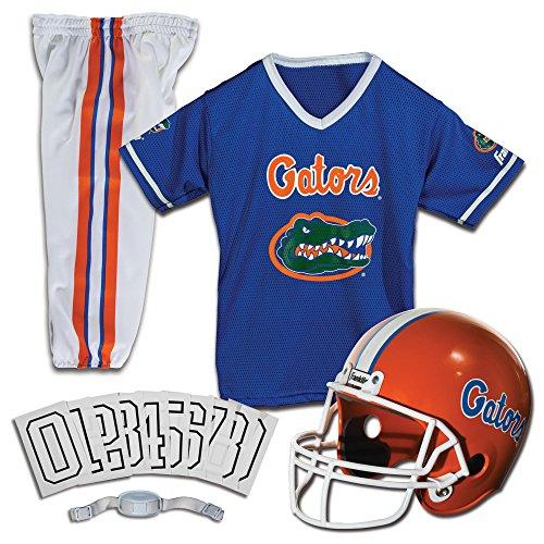 Franklin Sports NCAA Florida Gators Kids College Football Uniform Set - Youth Uniform Set - Includes Jersey, Helmet, Pants - Youth Medium