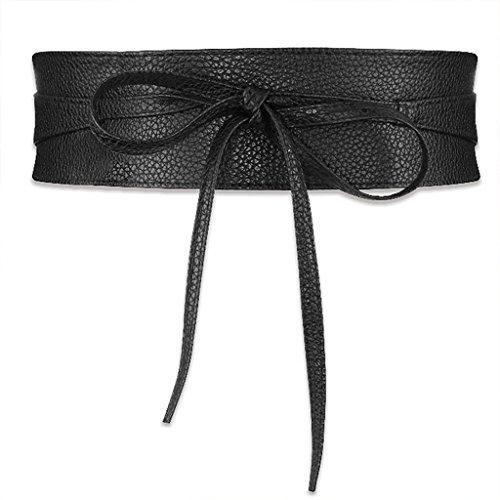 Little Sporter Frauen breiter Taillengürtel Elastischer Stretchgürtel Wölbungs Bund Bowknot für Lady