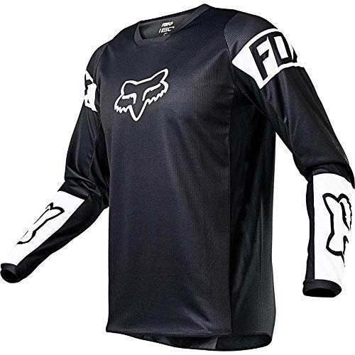 Fox Racing 180 REVN Jersey, Black/White, Medium
