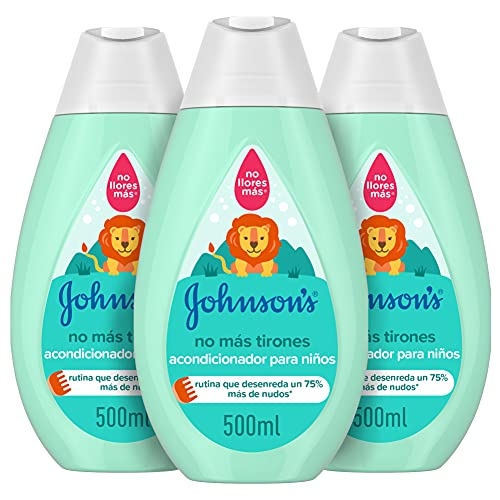 Johnson's Baby - Acondicionador No Más Tirones para Niños, 3 x 500 ml