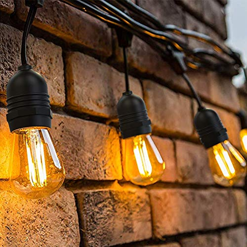 environ 14.63 m 15 Outdoor String Lumières DEL Qualité Commerciale imperméable IP65 String Lights 48 FT
