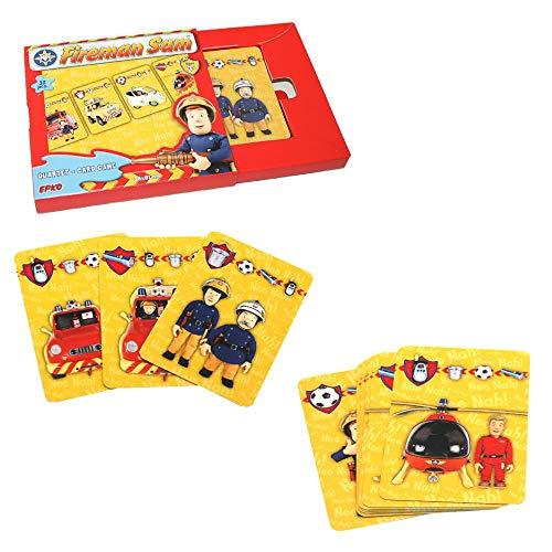 Feuerwehrmann Sam Quartett Kartenspiel 32 Karten   Kinder Legespiel