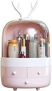 Makeup Organiser with Drawer, Multifunction Skin Care Rack Cosmetic Makeup & Jewelry Organiser,Pink