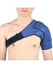 Schoudersteun voor mannen Dames, verstelbare schouderbrace Neopreen rotatormanchet Ondersteuningsband voor ontwricht AC-gewricht, bursitis, bevroren schouder, schoudercompressiemouw voor links en rechts