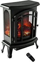 FLAME&SHADE Freestanding Electric Fireplace Stove Heater, Portable with Realistic Log and Flame Effect, Remote and Timer, 750w-1500w, 24 inch