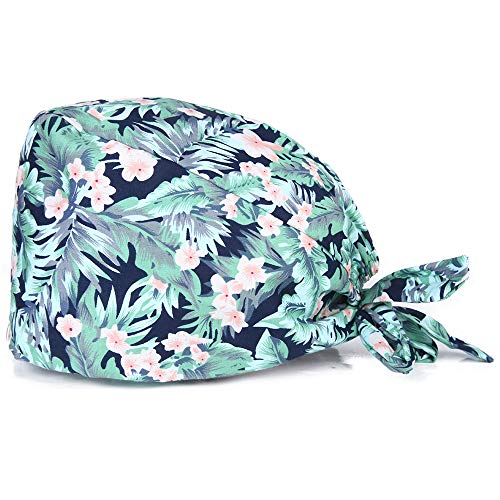Kousenpu Adjustable Working Cap with Sweatband, Bouffant Tie Back Hat, Suitable for Men and Women, One Size Multi Color (Color U)