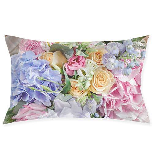 Flowers-Rose - Funda de almohada de cama de 50,8 x 76,2 cm, tamaño Queen estándar