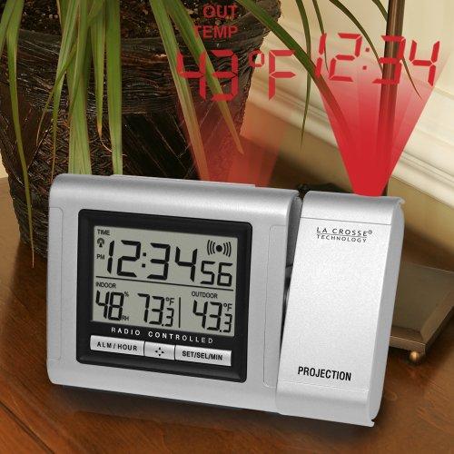 La Crosse Technology WT-5120U Projection Alarm Clock with Outdoor Temperature